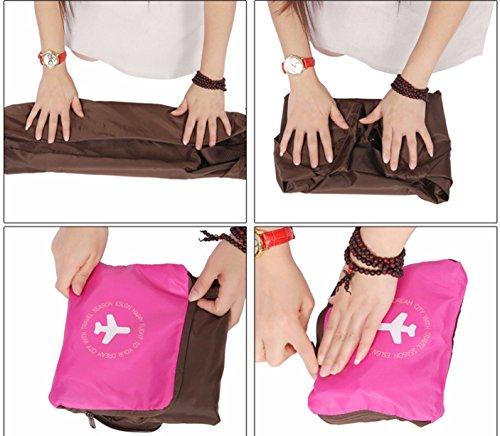 Nina wasserfest faltbar Gepäck Tasche mit Schulterriemen für Reisen Camping Rot (Rose Red)