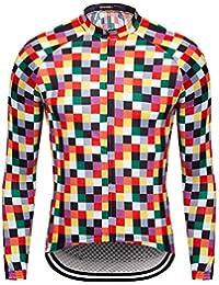 RUIKODOM Classic Square Style Manga Larga Ciclismo Jersey clásico para  Hombres Primavera y otoño Ropa de c8c4d8544