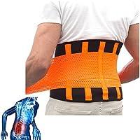 Apoyo de Espalda-Alivio Inmediato Para el Dolor de Espalda, Hernia Discal, Ciática, Escoliosis-Diseño de Malla Transpirable con Correas de Apoyo Ajustables-Inferior Cinturón de la Espalda-5 Tamaños (M: 72-81cm)