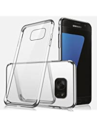 Samsung Galaxy Note 8 Silicone Case,Samsung Galaxy Note 8 Transparent Case Shockprrof,EUWLY Luxury Electroplating Crystal Clear Case Slim Fit Anti-shock Transparent Case Cover Silicone Soft Case Gel Rubber Flexible TPU Soft Case Protective Cover Case Bumper Case Cover Shell Case for Samsung Galaxy Note 8 + 1 x Blue Stylus Pen - Silver