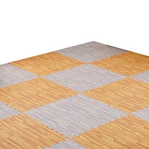 GUORRUI-Puzzlematten Eva Schaum Fitnessstudio Teppich Spleißen Schlafzimmer Haushalt Kindergarten Krabbeldecke Holzmaserung Nahtlose Naht, Mehrfache Farbe, Freie Kombination -