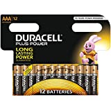 Duracell MN2400 Plus Power Alkaline AAA Size Batteries (Pack of 12)