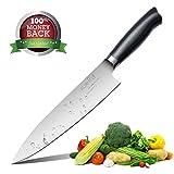 Kochmesser Küchenmesser Chefmesser Profi 20cm, Allzweckmesser, Gemüsemesser, Sehr Scharfe Messer aus Hochwertigem Edelstahl und Ergonomischem Griff