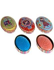 Savon de couleur parfum neutre dans sa jolie boite métal, petit plaisir d'offrir!