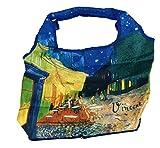 Fridolin 40731Van Gogh Café de Nuit Strandkorb Tasche faltbar Nylon Mehrfarbig 9x 9x 2,5cm