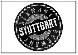 Stuttgart Stempel Illustration Kühlschrankmagnet