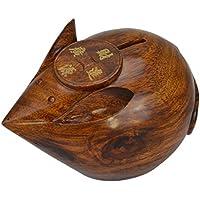 decorazioni per la casa Artigianato Redwood Carving Zodiaco Topo Salvadanaio , 25*19*16.5 - Anatra Carving