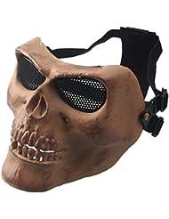 wwman Airsoft Deluxe BB pistola completo cara máscara de calavera al aire libre Caza CS juego de guerra máscara, Bones