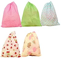 XXWG Non-woven Dustproof Printing Shoes Bag Portable Travel Storage Pouches with Drawstring