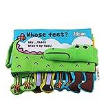 Amazemarket Ungiftig Weiches 3D Krokodil Fluss Tiere Dauerhaft Weich Stoff Buch Früh Lernen Bildung Spielzeug Säugling Baby Kinder