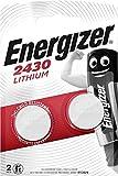 LOT DE 2 PILES ENERGIZER CR2430 - 1 BLISTER DE 2 - LITHIUM 3V  validite juillet 2026...