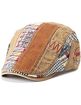 Gatsby Flatcap Schiebermütze Ivy Schirmmütze Cap Kappe Vintage Patch Cadet Hat Flat Beret Newsboy Golf