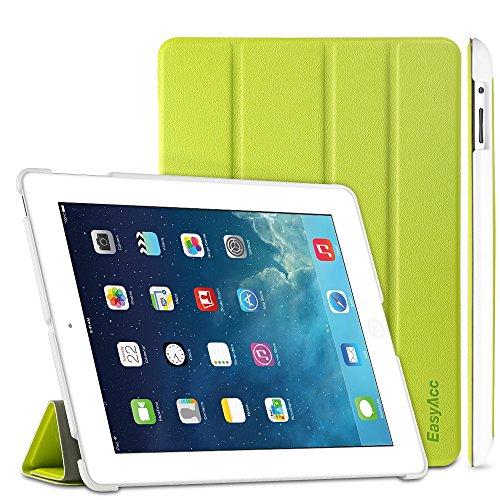 EasyAcc Hülle für iPad 4 iPad 3 iPad 2, Ultra Dünn Schutzhülle mit Ständer Funktion eingebautem Magnet Einschlaf/Aufwach Kompatibel für iPad 2/3/4 - Grün