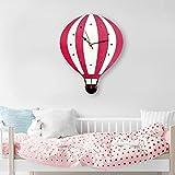 Shuangklei Quarz-Uhr Kreative Heißluftballon Wanduhr Farbe Acryl Wanduhr Cartoon Uhr
