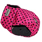 Glenndarcy Female Dog Season Diaper Nappy - Dotty Pink Extra Small Pants only