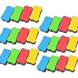 Whiteboard Magnetische Radiergummi Schwamm, 24 Pack Trocken Abwischbaren WeißEn Tafel Niedlichen Tafelreiniger, FüR Kinder, Zuhause, BüRo, Klassenzimmer Lehrer - ZufäLlige Farbe