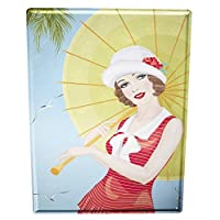 St574ony Metal Sign 12x16 Inches Poster Plaque Tin Plate Vintage Plaque Retro Motif Woman umbrella