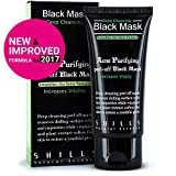 SHILLS Original Peel Off Black Mask With Activated Charcoal Deep Cleansing Purifying With New & Improved Formula For 2017, 100% Genuine, Natural, Oil-Control, Blackhead Removing (50ml)