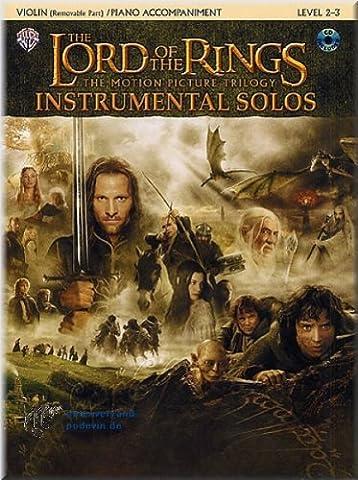 The Lord Of The Rings (Herr der Ringe) - Instrumental Solos - Violine Noten [Musiknoten]