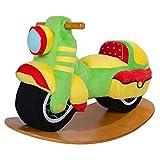 Labebe Schaukelpferd/Schaukel Motorrad/Spielzeug Schaukel/Schaukelstuhl für Babys/Kinder/Jungen/Mädchen,Draußen oder Innen,Schaukelpferd Garten, Soft und Gemütlicher Sitz mit Kleiner Rücklehne, Geschenk für Babys - Schaukelpferd Motorrad, Grün