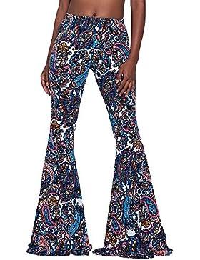 Pantalones casuales de la pierna ancha de las mujeres, pantalones de la yoga, pantalones casuales Ropa de noche...