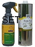 Effol Tiroler Steinöl - Bremsenöl - Fiegenöl gegen Insekten, Bremsen usw Bremsen-Blocker 500 ml im Set