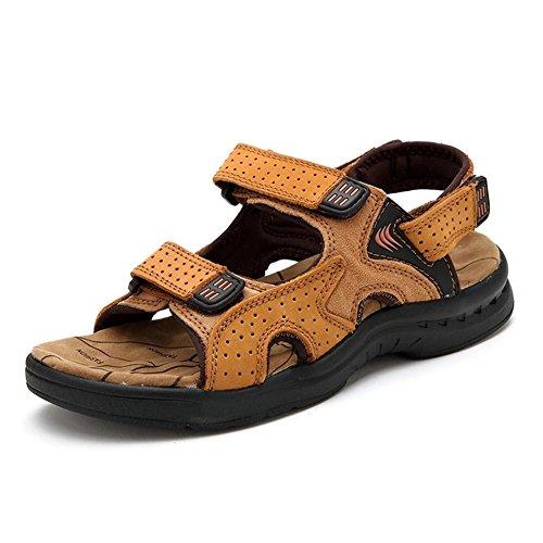 Moollyfox Sandales En PU-Cuir/Respirant Chaussures De Sport Jaune