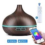 KBAYBO Humidificateur à eau Forme de gouttes d'eau/Humidificateur pour smartphone App/Wi-Fi & Télécommande Huile Essentielle Diffuseur Cool Mist Aroma