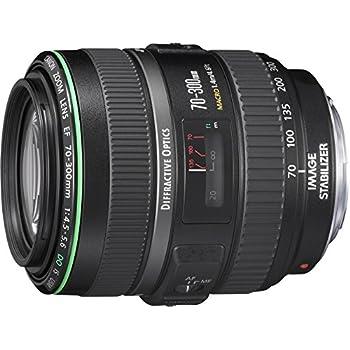 Canon EF 70-300mm f/4.5-5.6 DO IS USM - Objetivo para Canon (distancia focal 70-300mm, apertura f/4.5-40, zoom óptico 4.2x,estabilizador, diámetro: 58mm) negro