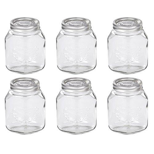 Leifheit 36303 Einkochglas \'Frucht & Fun\' 1,0 Liter (6 Stück)