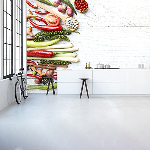 *azutura Thai Gemüse & Gewürze Wandbild Essen & Trinken Foto-Tapete Küche Dekor Erhältlich in 8 Größen Riesig Digital*