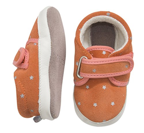 MOVE BY MELTON Suede shoe, Sailor, Hausschuh, Baby Jungen Krabbelschuhe Orange (615/Fusion Coral)