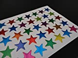 100 Coloured Stars School Teacher Office Merit Reward Sticker Self Adhesive