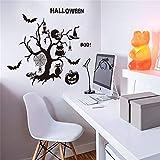 YCRD Wandaufkleber Halloween 3D Wasserdichtes Wand-DIY-Layout Abnehmbare Wohnzimmer Schlafzimmer Hintergrund Dekoration,Shantou