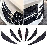 Auto Stoßstange Schutz MAXTUF 6pcs PVC Front Bumper Lip Splitter Spoiler Universal Schutzleiste Dekor für Auto KFZ PKW SUV