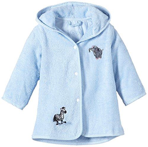 Vossen Unisex Baby Bademantel Zoo 1709600001, Einfarbig, Gr. One size (Herstellergröße: 60-82), Blau (pale blue 406)