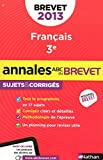 ANNALES BREVET 2013 FRANCAIS C