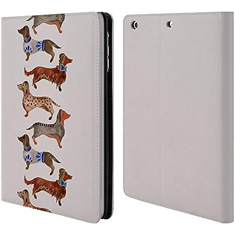 Ufficiale Cat Coquillette Bassotti Animali Cover a portafoglio in pelle per Apple iPad mini 1 / 2 / 3