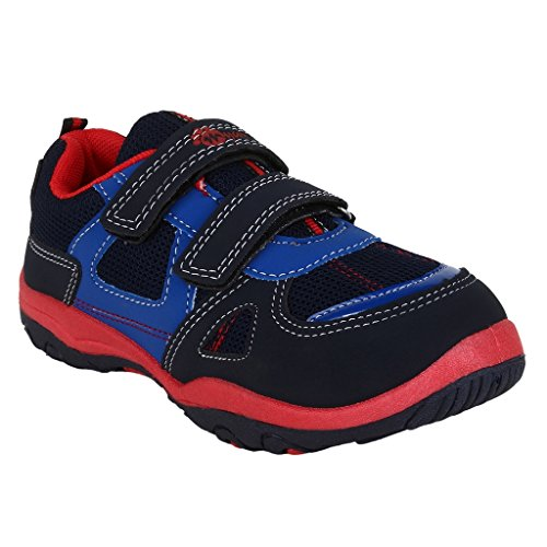 MYAU Kid's Boys Girls Navy Blue Red Stylish Casual Shoes