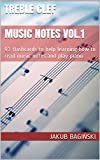 Treble clef  Music Notes Vol.1: 93 flashcards to help learning how to read music notes and play piano