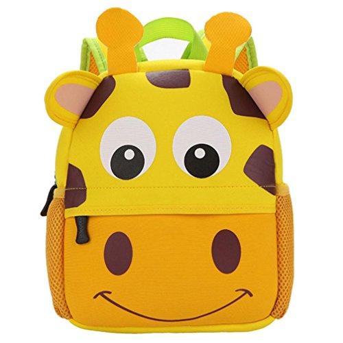 ❤️XINANTIME - Bolsa Escuela Bolso Escolar Dibujos Animados Infantil Viaje Mochila para Guardería Primaria Niño Niña (26cm (L) * 32 (H) * 10cm (W), ❤️Jirafa grande)