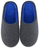 Mishansha Zapatillas de Estar en Casa Hombre Mujer, Zapatillas Casa Memory Foam para Invierno Otoño, Cómodas/Blanditas/Mulliditas y Calientes(Gris, 40/41 EU)