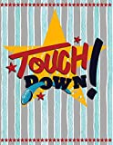 Touch Down!: Quad Ruled 5x5 Graph Paper Notebook (5 squares per inch) - Large 8.5