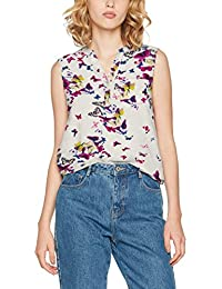 ONLY Damen Bluse Onlnova Aop S/L Placket Shirt Wvn