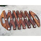 #5: Bhangra Sapp/Saap/Chhikka/Kainchi/Clapper Black Polished Wood