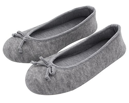 HomeTop Damen Hausschuhe, Grau - Grau - Größe: 39 EU