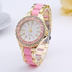 2015 New Geneva Watch Women Brand Dress Watches Gold Casual Ladies Quartz Ceramic Wristwatch Relojes Mujer relogio feminino 151