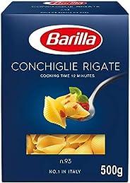 Barilla Conchiglie Rigate (500g) (Pack of 1)