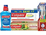 #6: Colgate Total Toothpaste - 240 g with Swarna Vedshakti Toothpaste - 200 g and Plax Freshmint Mouthwash - 250 ml with Free Slim Soft Toothbrush
