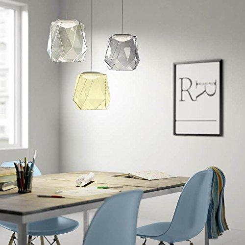Philips italo lampadario moderno led cucina camera da letto salotto in vetro grigio 1 - Lampadario camera da letto prezzo ...